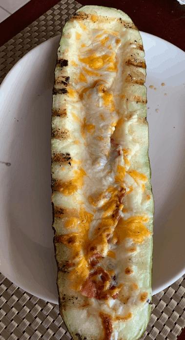 Grilled Zucchini Boat